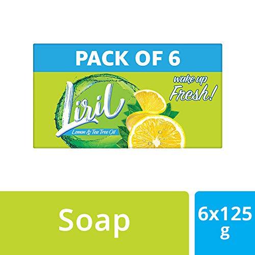 Liril Lemon & Tea Tree Oil Soap 125 g (Pack of 6)