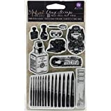 Prima Marketing The Archivist Cling Rubber Stamps, 4 x 6""