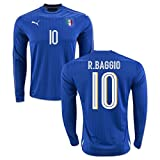 2016-2017 Italy Long Sleeve Home Shirt (R.Baggio 10)