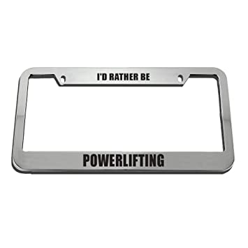 Id Rather Be Bull Riding Chrome License Plate Frame