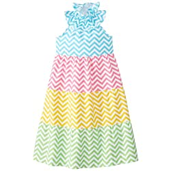 Mud Pie Little Girls' Colorful Maxi Dress