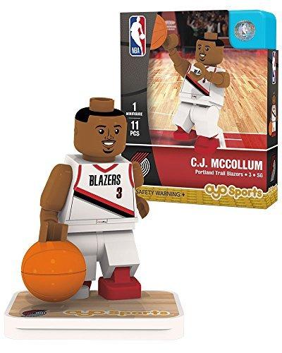 (OYO NBA Portland Trail Blazers C.J. McCollum Association Home Uniform Minifigure, Small, No Color)
