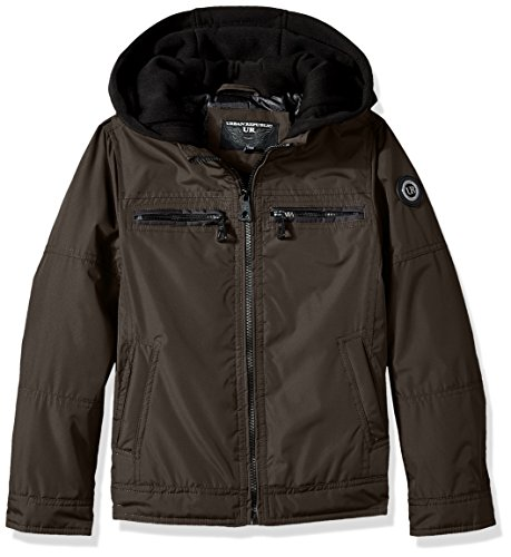 - Urban Republic Little Boys' Ballistic Jacket Melange Sleeve, Olive, 5/6