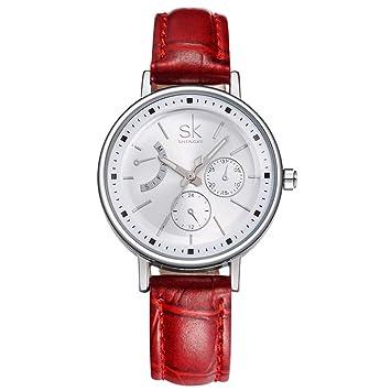 SSQ-CXO Reloj de Cuarzo para Mujer, diseño Elegante y Simple con Espejo de