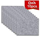 """What to Put Under Furniture on Hardwood Floors Furniture Pads - 10 Pack ON'H Self-Stick Felt Furniture Pads with 3M Tapes Hardwood Floors Protectors – 8"""" x 6"""" x 1/5"""" Sheet Cut into Any Shape – Grey"""
