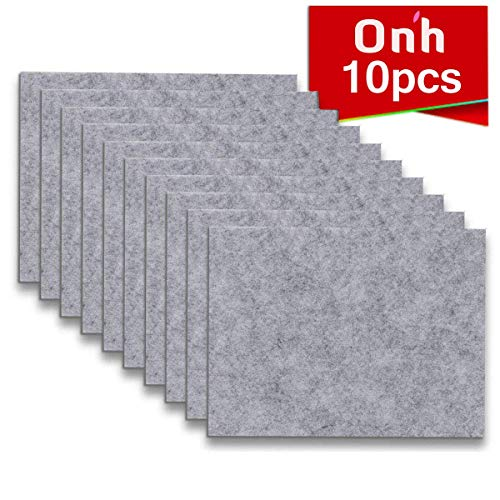 Furniture Pads - 10 Pack ON'H Self-Stick Felt Furniture Pads with 3M Tapes Hardwood Floors Protectors - 8