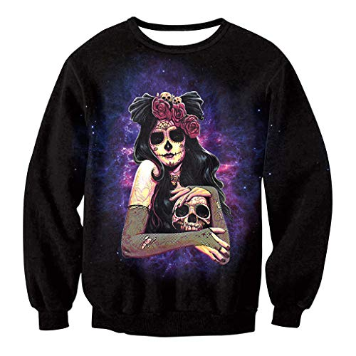Costumes Ideas Costumes For Teenage Girl Halloween Scary - FEDULK Unisex 3D Print Pullover Sweaters