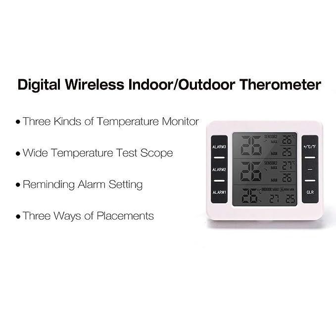 Amazon.com: DAVEVY Termómetro Inalámbrico para Interior y ...