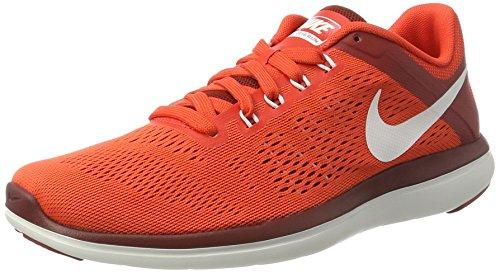 Nike Mens Flex 2016 Rn Chaussure De Course Max Orange / Sommet Blanc