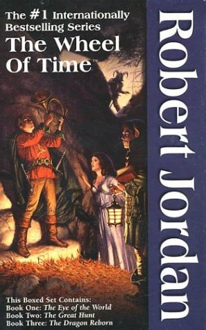 Book cover from The Wheel of Time, Boxed Set I, Books 1-3: The Eye of the World, The Great Hunt, The Dragon Reborn by Robert Jordan