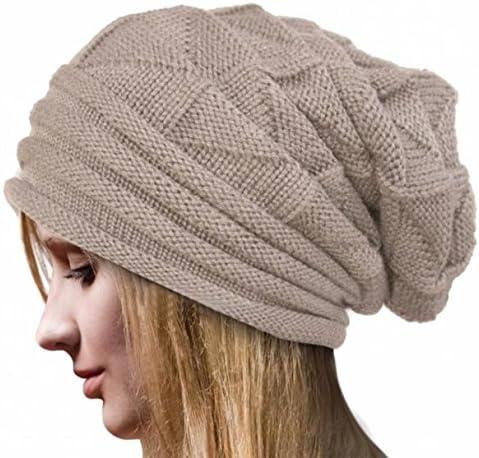 Overdose Gorros De Punto para Mujer Crochet Casual De Invierno ...