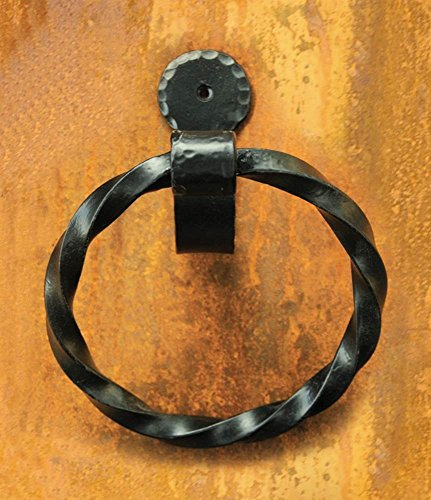 Hand Forged Iron Towel Ring