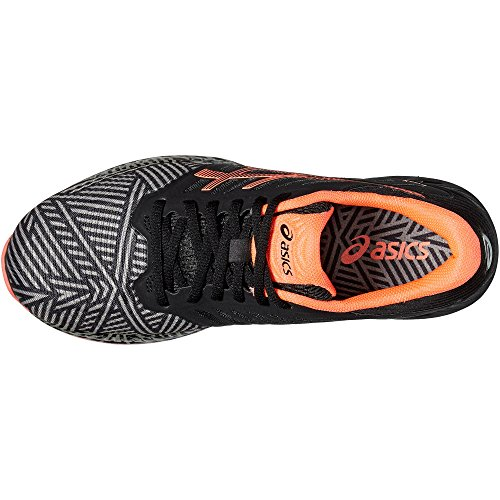 asics fuzeX - Zapatillas para correr Mujer - gris/negro Talla 37,5 2016 Black/Orange - 8.5 UK