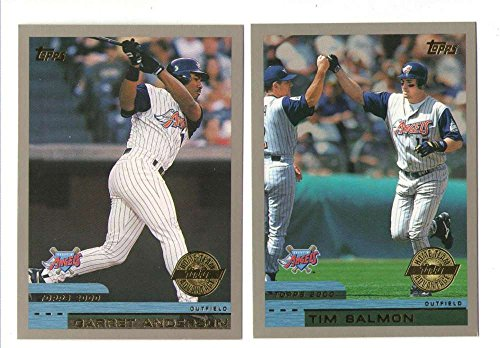 2000 Topps Home Team Advantage (HTA) - ANAHEIM ANGELS Team Set