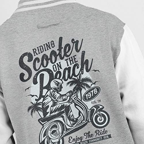 Retro Jacket Coto7 Heather The On Grey Varsity Scooter white Beach Men's Bddq60