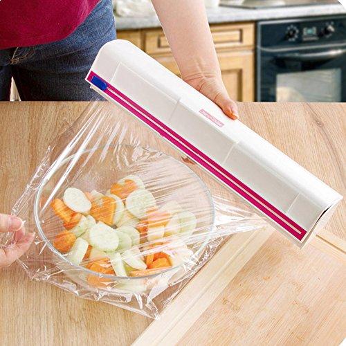 Loune WeekWrap Dispenser New Food Plastic Cling Wrap Dispenser Preservative Film Cutter Cooking Tools Kitchen Tool Accessories