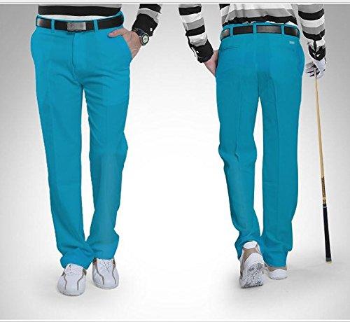Kayiyasu ロングパンツ メンズ ゴルフウェア 防水 UVカット 男性用 撥水 長ズボン 021-xsty-kuz005(XL ローズ)