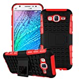 Mega-Deals 4U Samsung Galaxy J1 Mini Cover - Hybrid Rugged Dual Layer Protection Back Case With Built-In Kick Stand