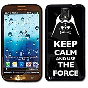 Samsung Galaxy Note 3 Black Rubber Silicone Case - Keep Calm and Use the Force Darth Vader