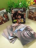 Two Packs,Bar Coasters drinking mats face coasters you can wear(40 Fun Faces)