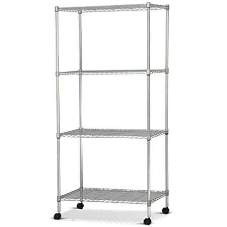 Popamazing MULTI PURPOSE 4 tier carbon steel wire steel shelving ...