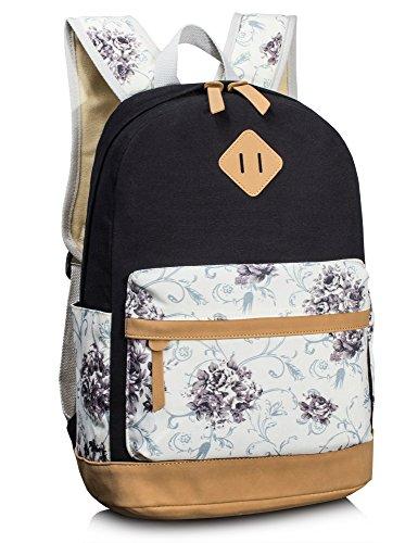 Backpack for Girls, Floral College Bookbags Fashion Backpack Shoulder Bag Bookbags by Leaper