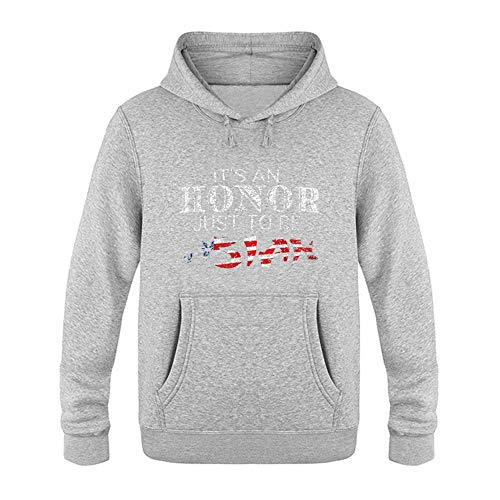 Its an Ho-nor Just to Be As-ian 6 Plus Velvet Fashion Hoodies Men's T-Shirt S Gray (6 Million Dollar Man We Have The Technology)