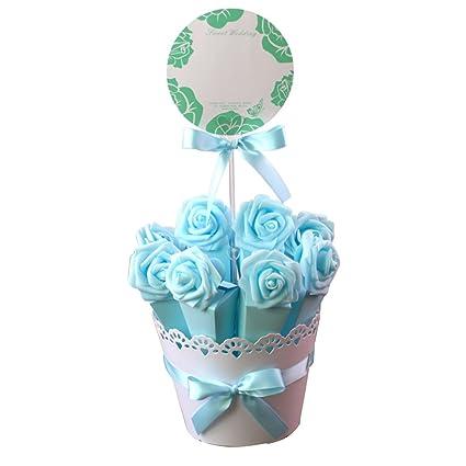 TOYMYTOY Favor de boda Maceta de papel incluyendo 10 piezas Cajas decorativas Contenedores de chocolate dulce