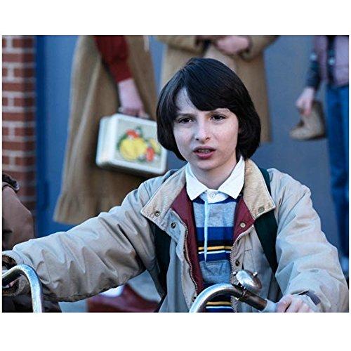 Stranger Things Finn Wolfhard as Mike Wheeler Seated on Bike 8 x 10 inch Photo