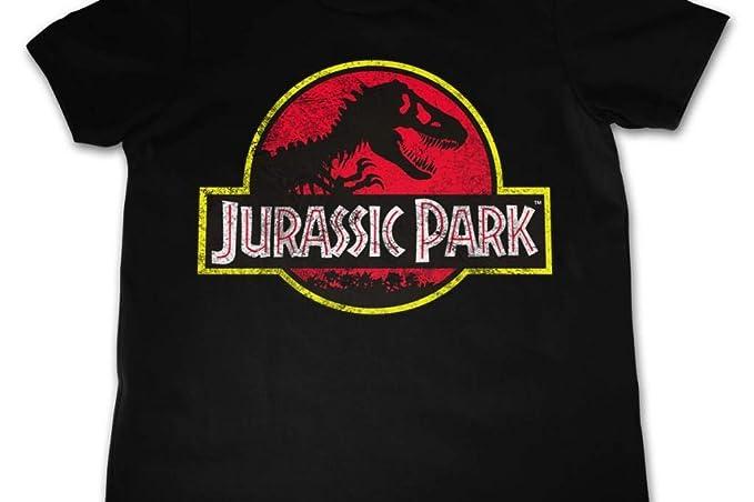 Jurassic Park - Camiseta de Manga Corta - para niño Negro Negro (X-Large: Amazon.es: Ropa y accesorios