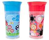 Baby : Sassy Insulated Grow Up Cup, Pink/Blue, 9 Ounce