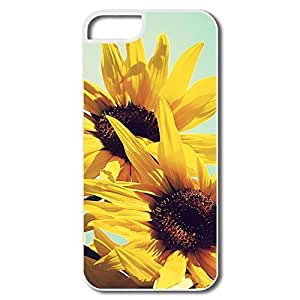 Best Sunflowers Against Blue Sky Plastic Case For IPhone 5/5s