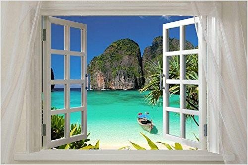 SCENIC POSTER window onto THAILAND 24X36 island turquoise wa