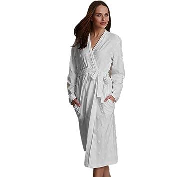 DMMSS Manga Algodš®n Batas largas de Mujeres - Pijamas Simple Inicio Servicio Camisš®n, White, m: Amazon.es: Deportes y aire libre