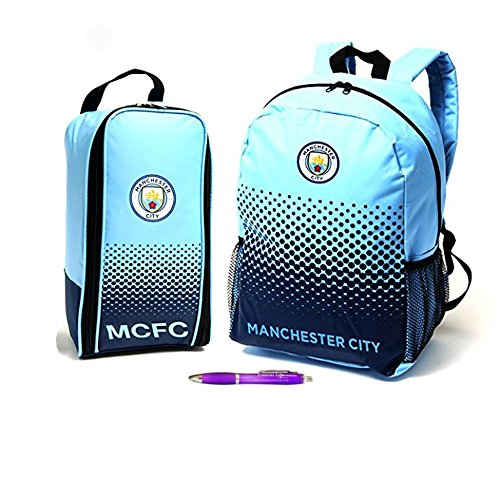 Back to School with Manchester City FC Backpack And Boot Bag (Manchester City Shoe Bag)