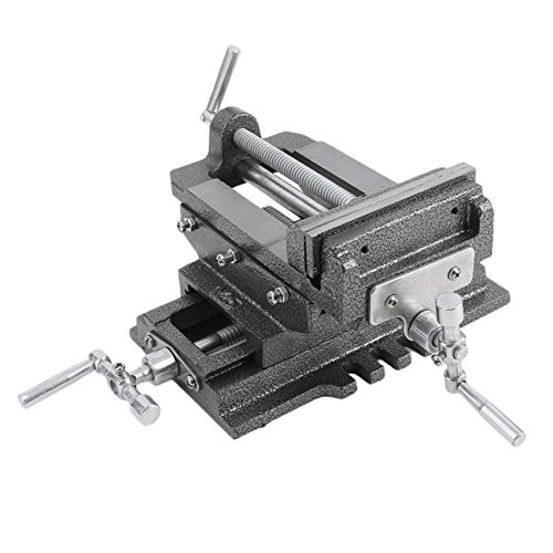 Dooret 5'' Inch Cross Drill Press Vise X-Y Clamp Machine Slide Metal Milling 2 Way HD with Heavy Duty Steel Construction by Dooret