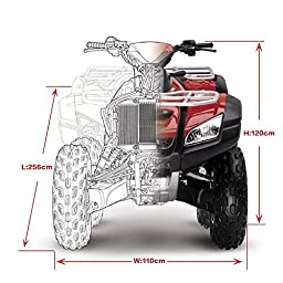 Universal All Weather ATV Cover, Waterproof Dust Sun Wind Proof Outdoor ATV UV Cover, Durable Quad Storage Protection for Honda Polaris Yamaha Suzuki (Black, XXL)