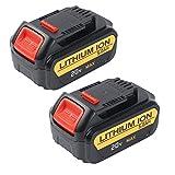 Enegitech 20V 5.0Ah Lithium Replacement Battery for Dewalt Cordless Drill Max XR DCB180 DCD985B DCB200 DCB205 DCD771C2 DCB204 DCS355D1 DCD790B High Capacity Cordless Power Tools 2 Pack