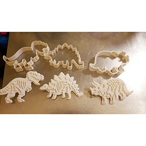 Dinosaur Cookies Cutters Biscuit Mould Set Tools Kitchenware Bakeware Decorative Tools Kitchen Accessories ()