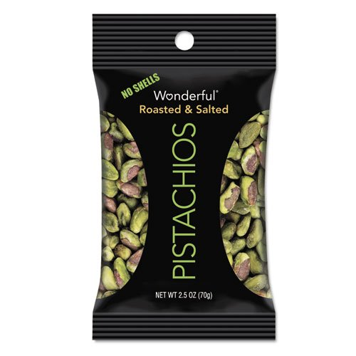 Paramount Farms Inc. 070146A25M Wonderful Pistachios, Dry Roasted & Salted, 2.5 oz, 8/Box