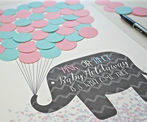 (Gender Reveal Party Decorations - Gender Reveal Vote Game for Guessing New Baby's Gender)