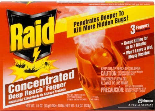 Raid Fogger Triple Pack  Concentrated, 1.5-Ounce Cans (Pack of 12) ()