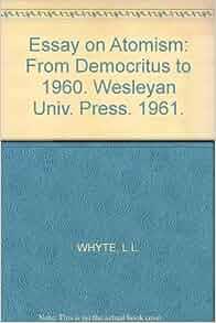 essay on democritus