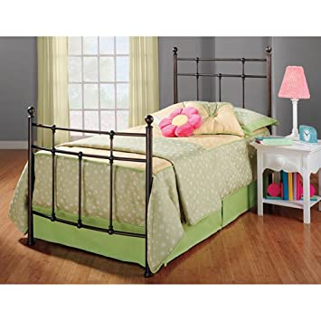 hillsdale furniture 380btwr providence bed set with rails twin antique bronze - Antique Twin Bed Frame