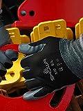 24 Pair - Showa Atlas 370 Black Work Gloves Size