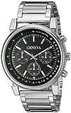 Geneva Men's FMDJM509A Analog Display Japanese Quartz Silver Watch