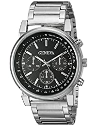 Geneva Men's FMDJM509A Analog Display Japanese Quartz Silver Watch