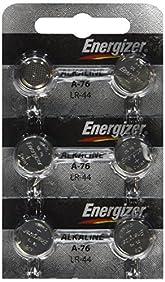 [ Strip of 6 ] Energizer A76/LR44 (A76BP), SR44, L1154, 1.5v Alkaline Batteries
