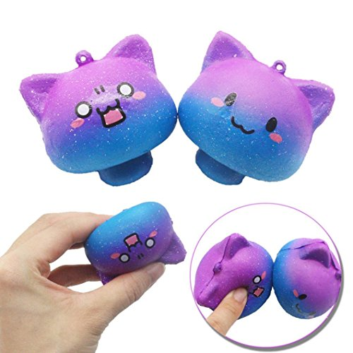 Dirance Galaxy Mushroom Squishy Toys Jumbo Prime Cheap, Kawaii Mochi Scented Non Toxic Healing Fun Charm Slow Rising Squishy Squeeze Stress Relief Toys For Kids Boys Girls Autism Adults (Kawaii Mushroom)
