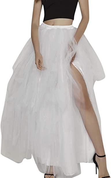 DressLksnf Falda Larga para Mujer Moda Tul Falda de Princesa ...